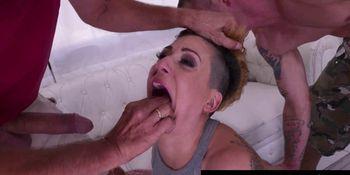 Furious Facefucking for veteran slut