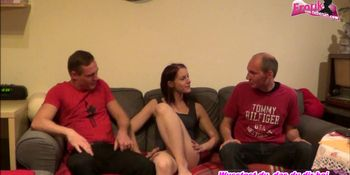 I fuck my german girlfriend threesome with other guy