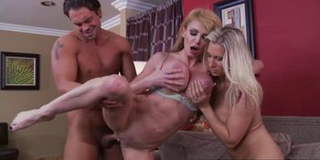 Brazzers - Mommy Got Boobs - Mommy Sandwich scene starring Devon Lee