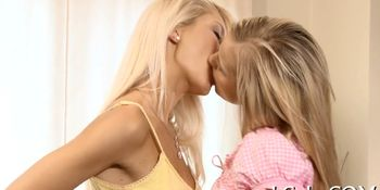 Sexual lesbo girls relax