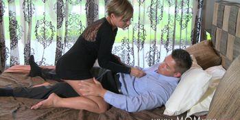 Brunette rides his cock