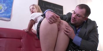 Tricky Old Teacher - Teen gets seduced into sex by experienced and horny old teacher