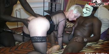 german big ass amateur mother get double penetration from mmf black cock
