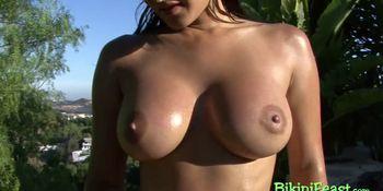 Horny Indian babe enjoying solo masturbation