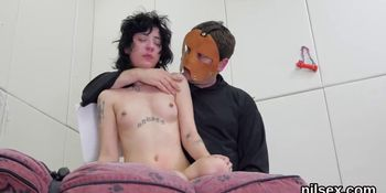 Kinky teen is brought in butthole asylum for painful treatment