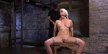 Busty milf submissive dildoed by maledom