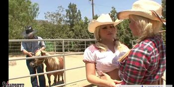 Hot country girls Brooke Haven and Emma Heart share cock