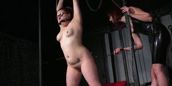 Lesbian whipping of slave Isabel Dean
