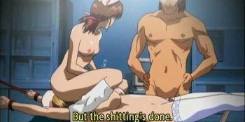 Busty anime nurse gets roped and slit banged