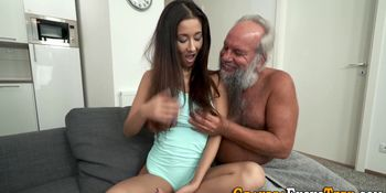 Teen Licked out By Grandpa